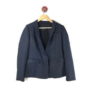 J. Crew 12 blazer button front career linen blend